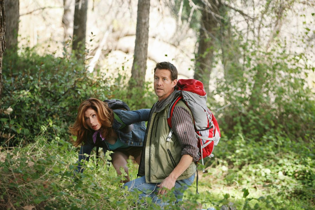 Müssen um ihr Leben bangen: Mike (James Denton, r.) und Katherine (Dana Delany, l.) ... - Bildquelle: ABC Studios