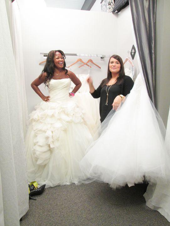 Während Tiffani und Alicia Probleme mit ihren eigentlichen Unterstützern bekommen, ist Christine an ihrem Hochzeitstag eine wunderschöne Braut ... - Bildquelle: TLC