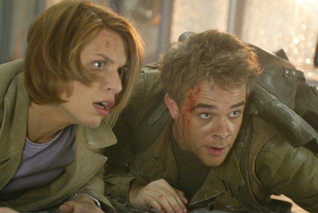 """Connor (Nick Stahl, r.) und Kate (Claire Danes, l.) erkennen, dass der """"Tag der Abrechung"""" längst angebrochen ist - das Ende der Welt ist nur wenige... - Bildquelle: 2004 Sony Pictures Television International. All Rights Reserved."""