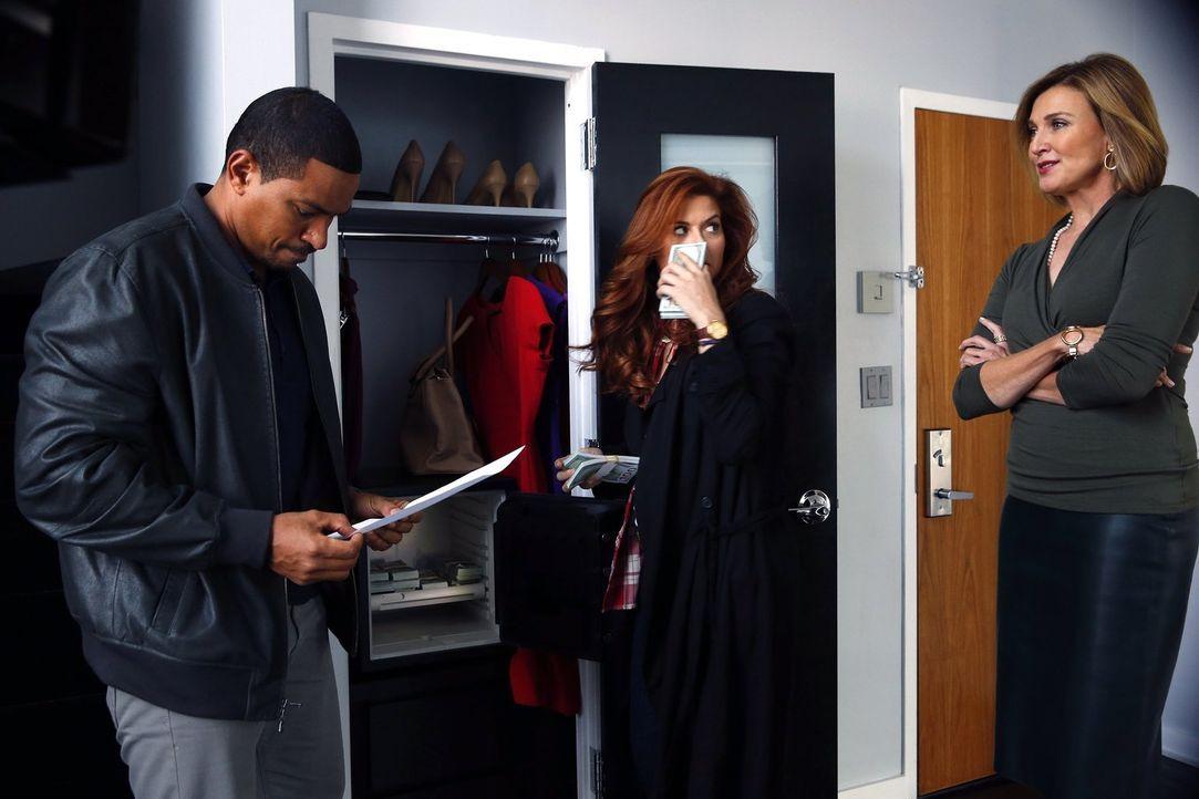 Eine Frau wird tot in einem Party-Bus gefunden. Billy (Laz Alonso, l.) und Laura (Debra Messing, M.) ermitteln und stoßen dabei auf Margot Preston (... - Bildquelle: Warner Bros. Entertainment, Inc.