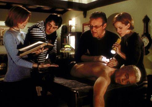 Buffy - Willow (Alyson Hannigan, l.), Xander (Nicholas Brendon, 2.v.l.), Gile...