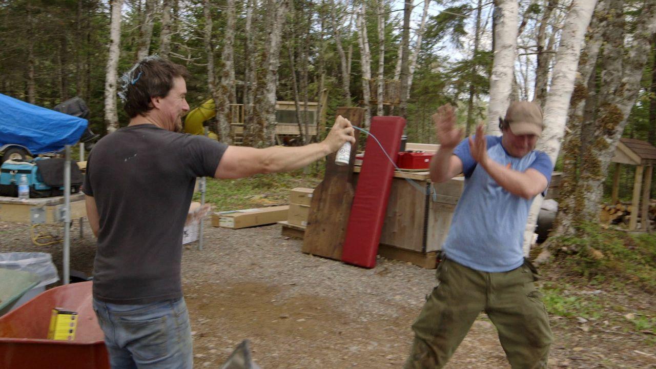 Bei der Arbeit muss auch immer Zeit für Geschwisterkappeleien sein, finden Andrew (l.) und Kevin (r.) ... - Bildquelle: Brojects Ontario Ltd./Brojects NS Ltd