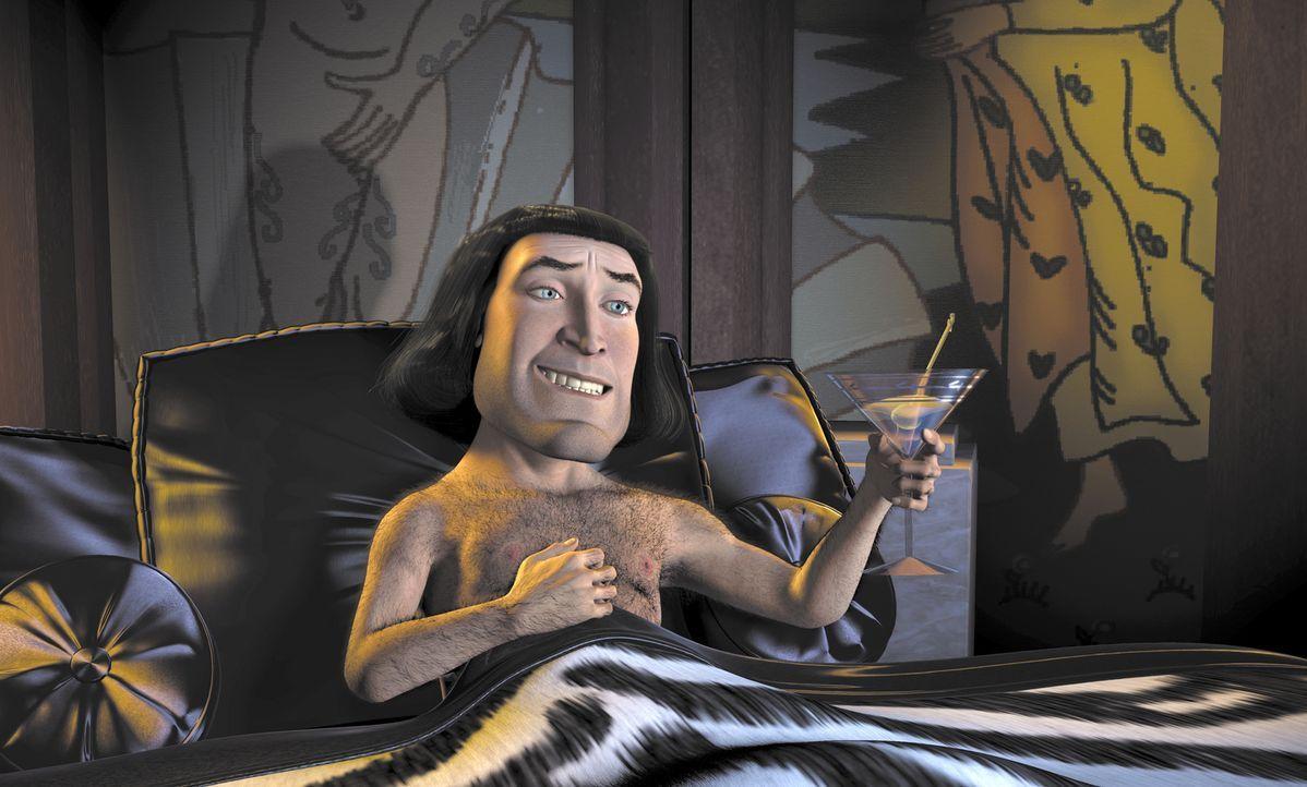 Ein Macho, wie er im Buche steht: Der machthungrige Lord Farquaad (Bild) möchte gerne König des Landes werden. Dazu braucht er eine Prinzessin, die... - Bildquelle: TM &   2001 DreamWorks L.L.C.