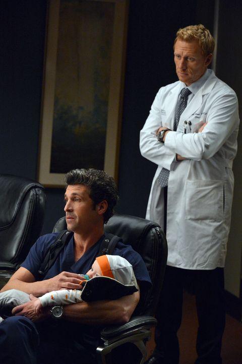 Eigentlich wollte Derek (Patrick Dempsey, l.) zukünftig mehr Zeit für seine Familie aufbringen, doch ein Angebot von niemand Geringerem als dem Pr... - Bildquelle: ABC Studios
