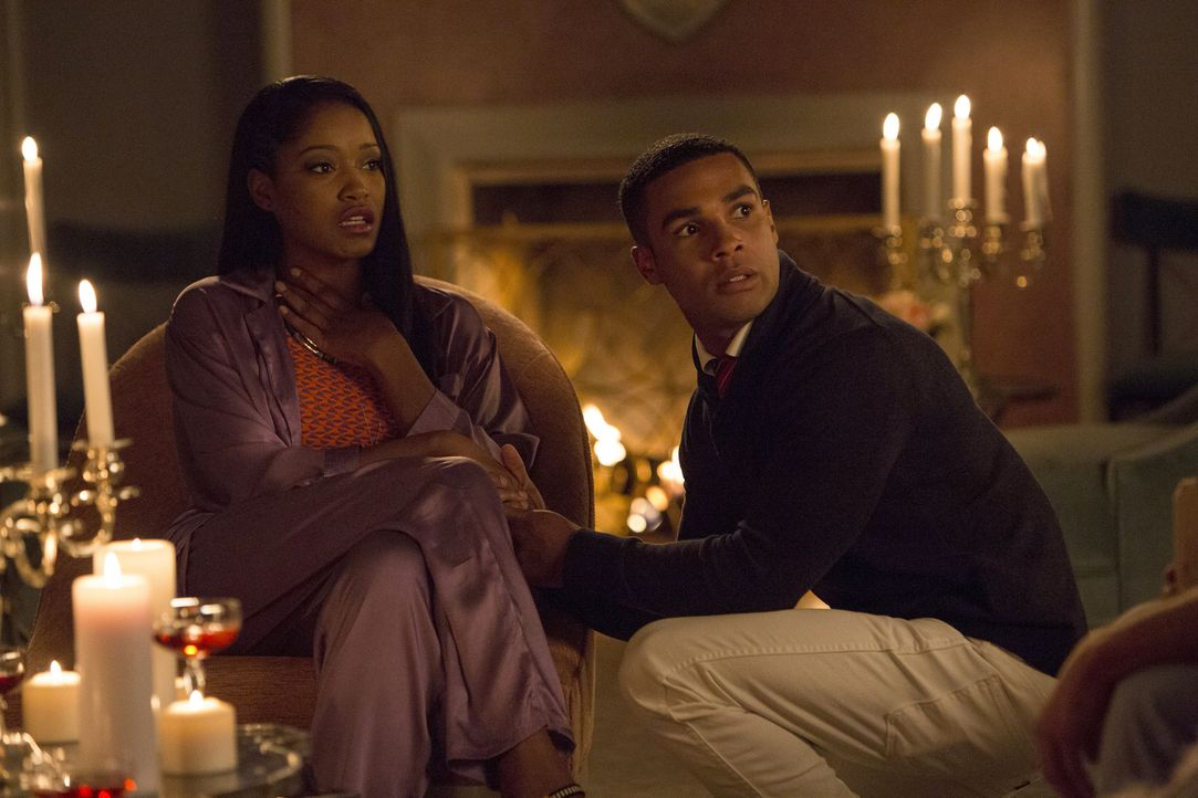 Als die Kappa Mädchen in ihrem Haus gefangen sind, kommen sich Zayday (Keke Palmer, l.) und Earl (Lucien Laviscount, r.) näher, doch dann taucht auc... - Bildquelle: 2015 Fox and its related entities.  All rights reserved.