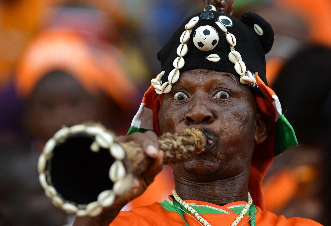 Die ivorischen Fans -1 - Bildquelle: Francisco Leong/AFP