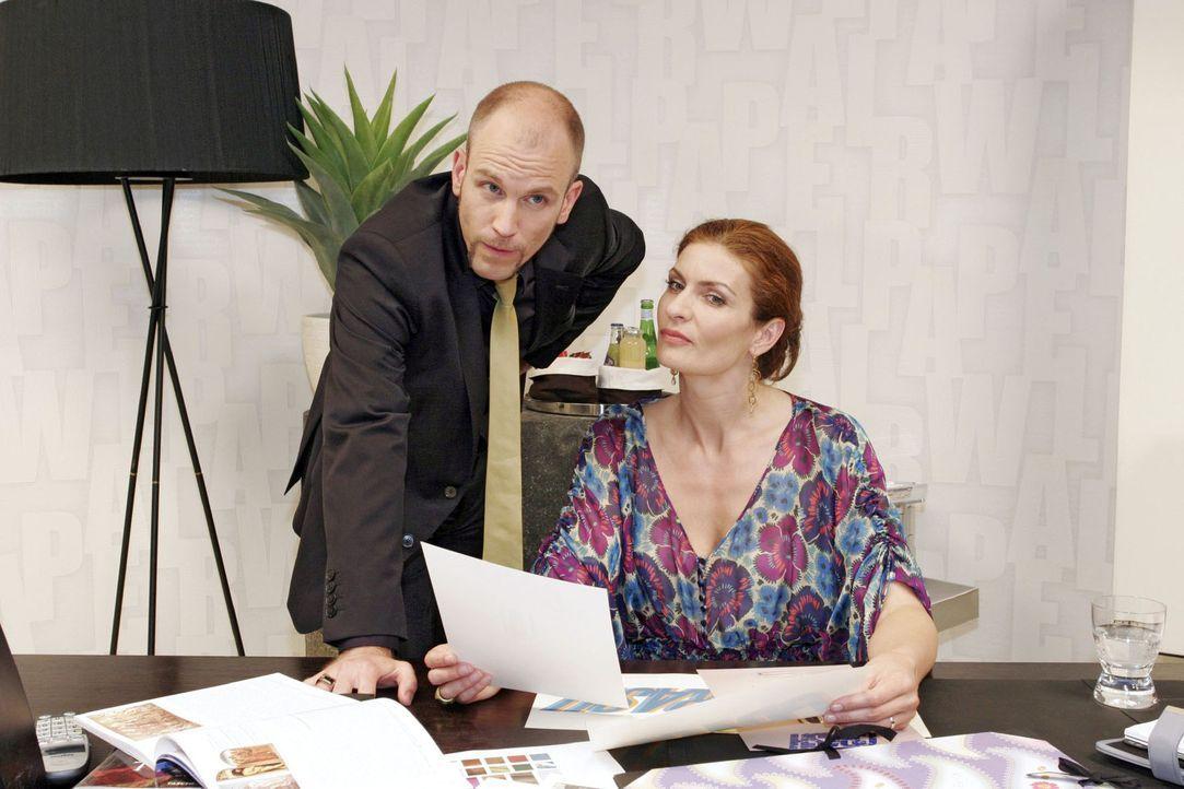 Natascha (Franziska Matthus, r.) und Gerrit (Lars Löllmann, l.) verfolgen einen perfiden Plan...
