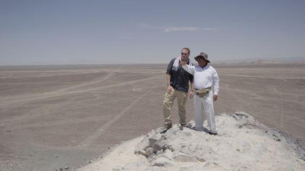 Auf geht's nach Peru! Josh (l.) möchte dort die Geoglyphen des Nazca-Stammes...