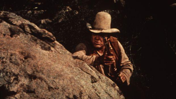 Hoss Cartwright (Dan Blocker) ist in einen Hinterhalt geraten. © Paramount Pi...