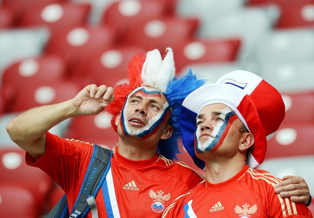Die russischen Fans - Bildquelle: AFP