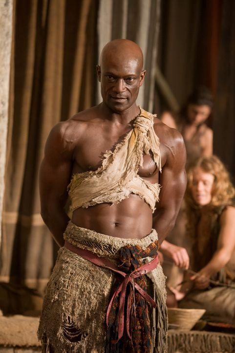 Trainiert die aufständischen Sklaven: Drago (Peter Mensah) ... - Bildquelle: 2011 Starz Entertainment, LLC. All rights reserved.