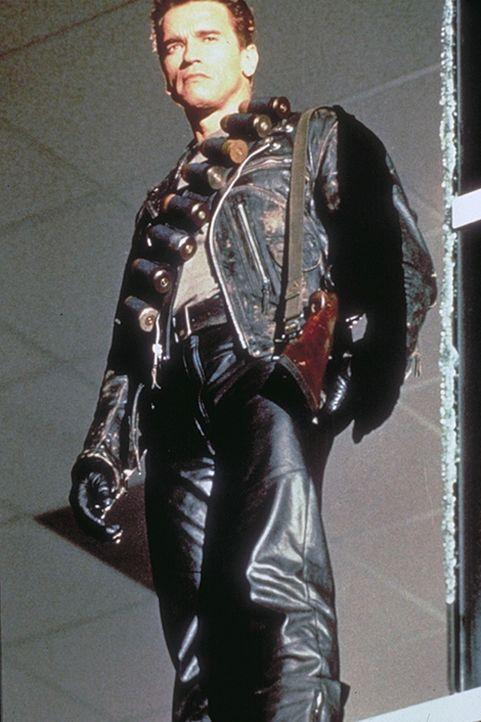 Von einer menschlichen Untergrundorganisation wird der Terminator (Arnold Schwarzenegger) auf eine Zeitreise in die Vergangenheit geschickt, um das... - Bildquelle: Columbia TriStar Films
