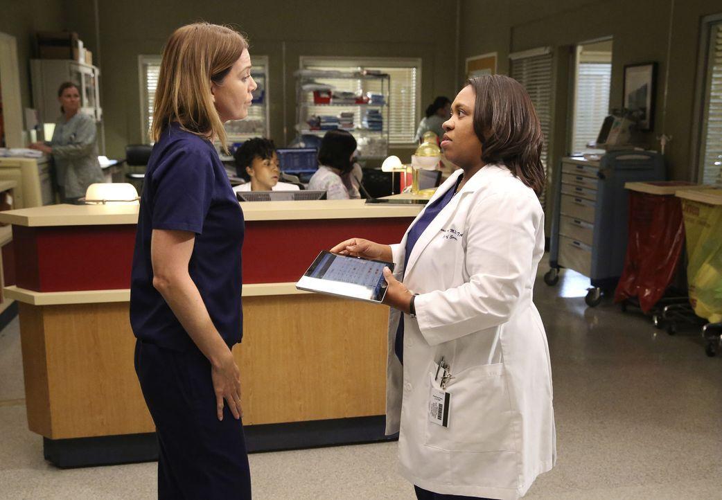 Während Meredith (Ellen Pompeo, l.) einen Vorbereitungskurs für die Ärzte von morgen hält, bereitet sich Bailey (Chandra Wilson, r.) auf ihren erste... - Bildquelle: ABC Studios