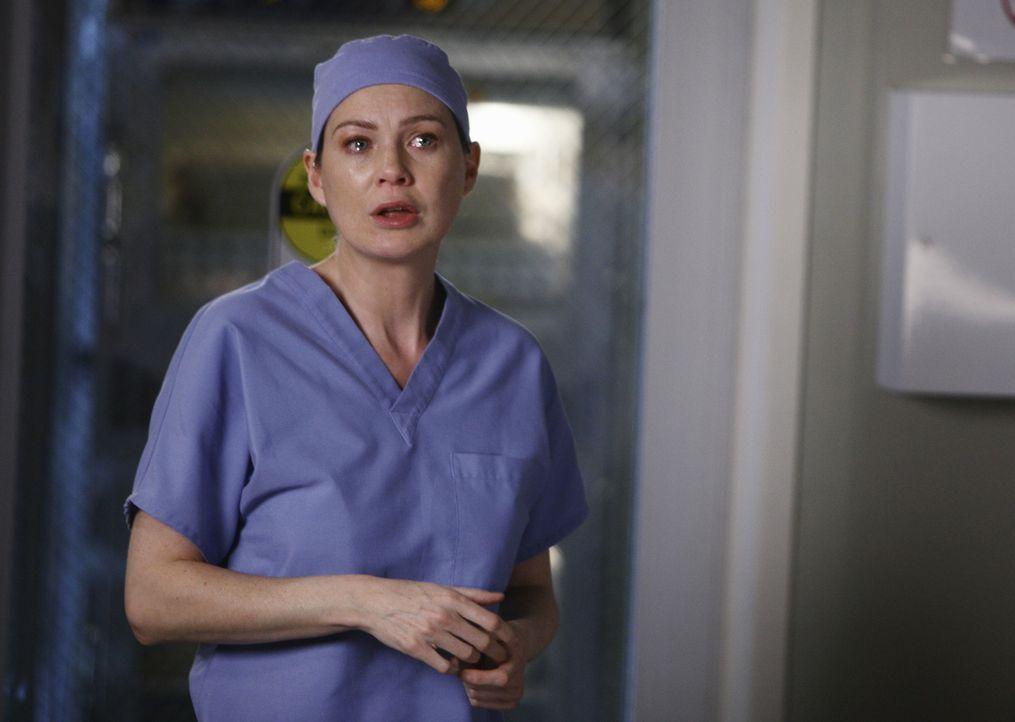 Kann nicht glauben, dass Derek angeschossen wurde und macht sich große Sorgen um ihn: Meredith (Ellen Pompeo) ... - Bildquelle: Touchstone Television