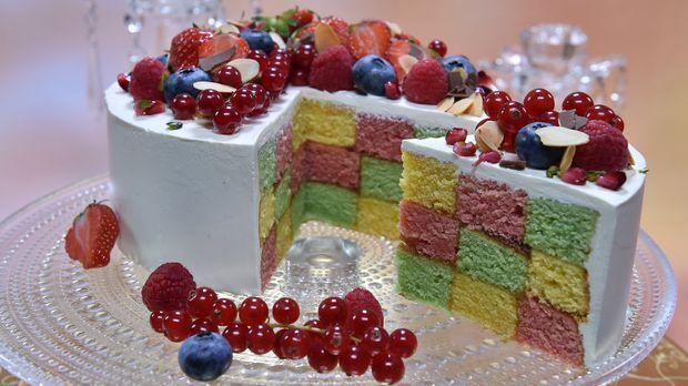 Bunte schachbrett torte rezept technische pr fung for Kuchen zusammenstellen programm