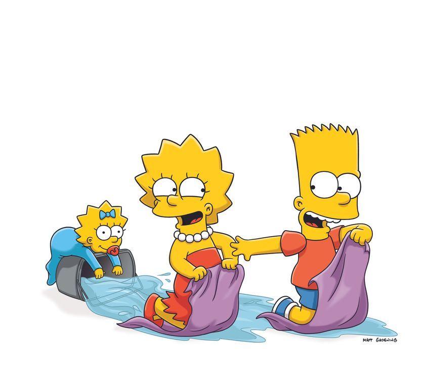 (24. Staffel) - Machen es ihren Eltern nicht immer leicht: Bart (r.), Lisa (M.) und Maggie (l.) ... - Bildquelle: und TM Twentieth Century Fox Film Corporation - Alle Rechte vorbehalten