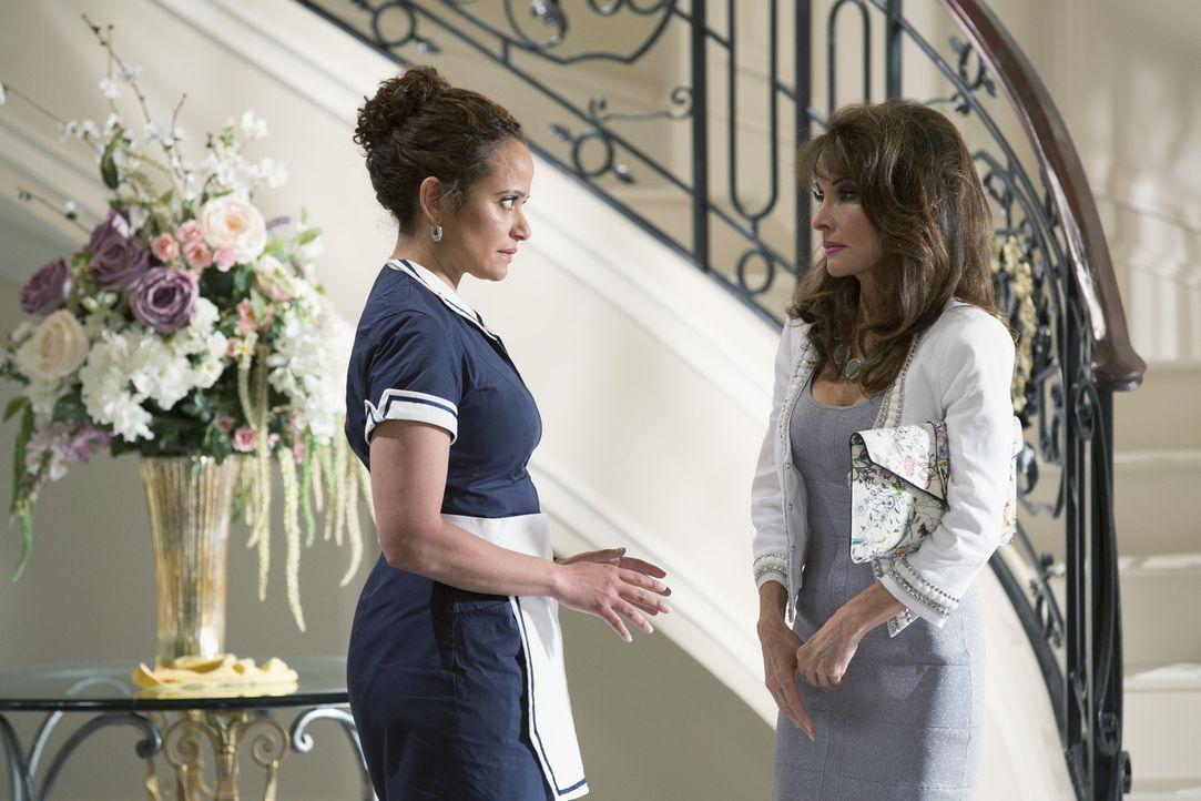 Während Zoila (Judy Reyes, l.) und Genevieve (Susan Lucci, r.) noch immer mit Genevieves nerviger Mutter zu kämpfen haben, enthüllt Nick im Tablette... - Bildquelle: 2014 ABC Studios