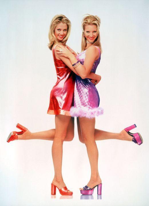 Seit der Schulzeit sind die Blondinen Romy (Mira Sorvino, l.) und Michele (Lisa Kudrow, r.) unzertrennlich. - Bildquelle: Buena Vista International Television