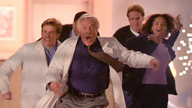 (v.l.n.r.) Jesse (Charlie Schlatter), Mark (Dick Van Dyke), Steve (Barry Van...