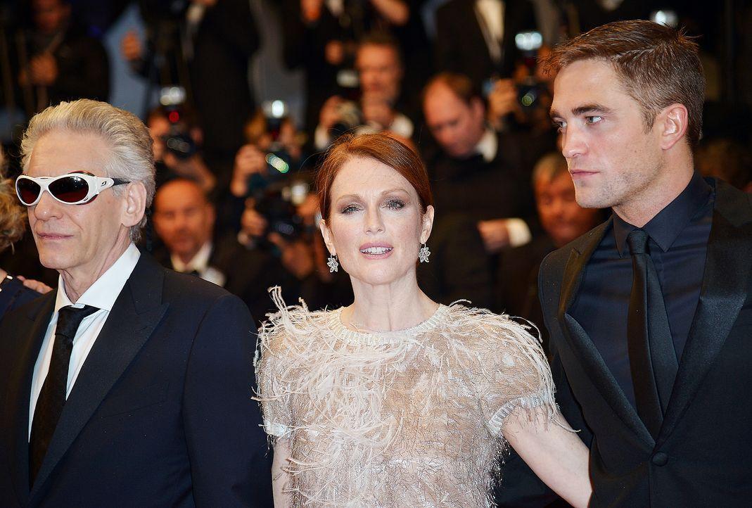 Cannes-Filmfestival-David-Cronenberg-Julianne-Moore-Robert-Pattinson-140519-AFP - Bildquelle: AFP