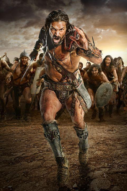 Will nie mehr vor den Römern fliehen und zieht deshalb mit etlichen Sklaven gegen Rom: Crixus (Manu Bennett) ... - Bildquelle: 2012 Starz Entertainment, LLC. All rights reserved.