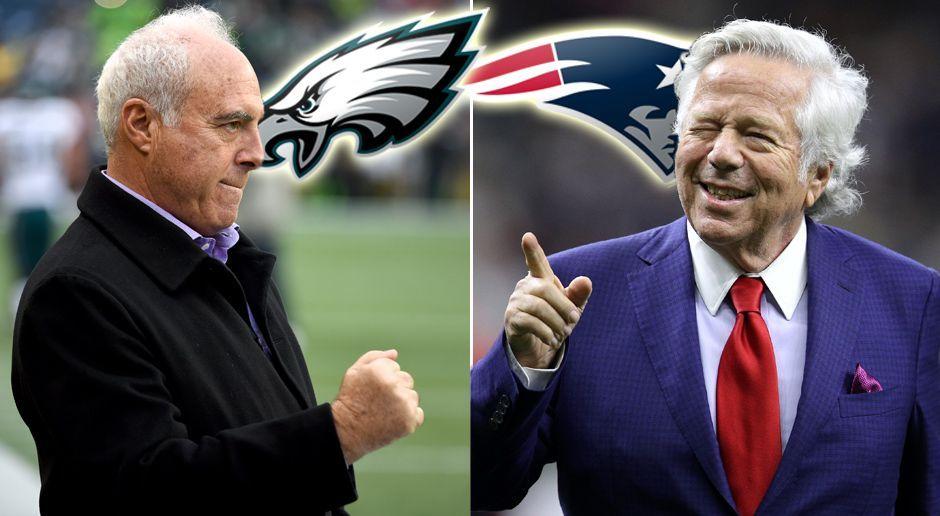 Lurie vs. Kraft: Die Besitzer der Super-Bowl-Teams im Vergleich - Bildquelle: Getty Images