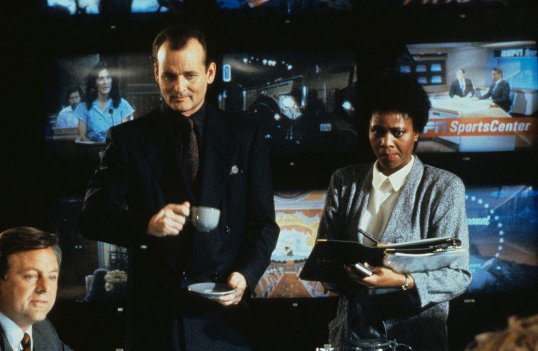 Für Quoten ginge der machtbesessene Fernsehboss Frank Cross (Bill Murray, M.) sogar über Leichen. Als er sich von einer blutrünstigen Aktualisier... - Bildquelle: Paramount Pictures