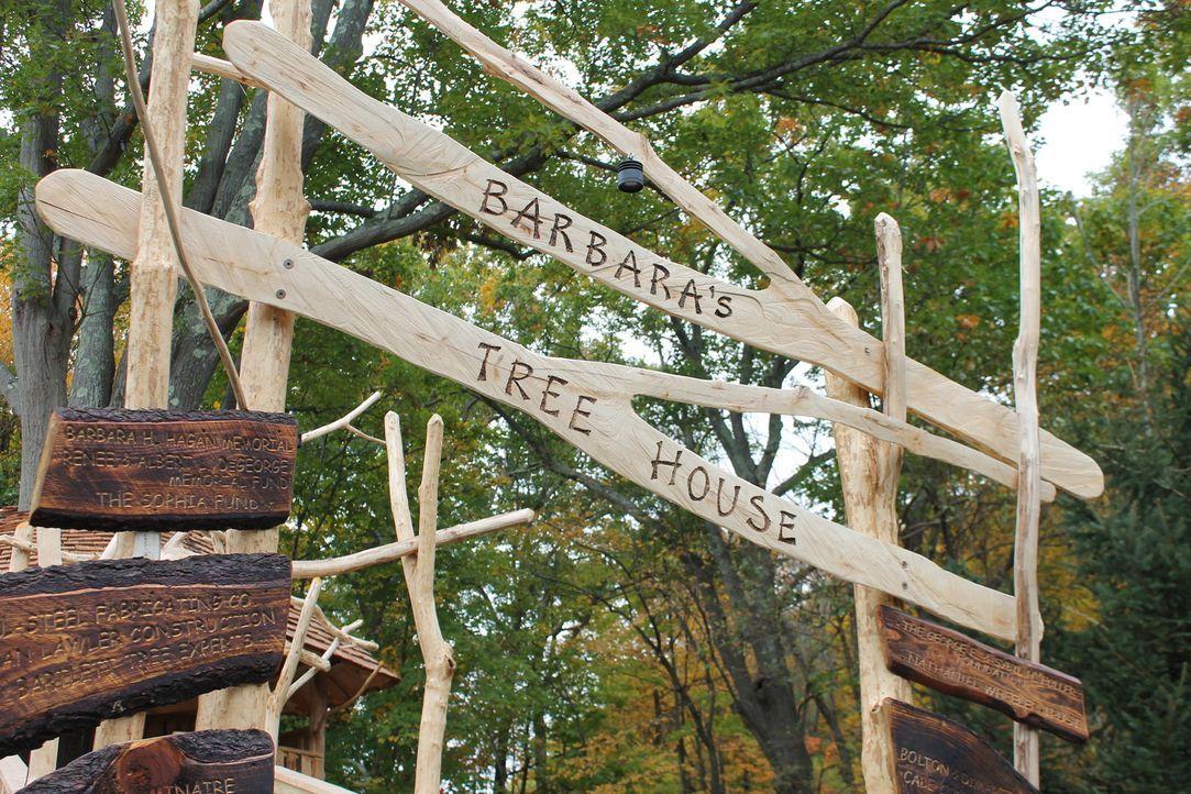 Für dieses außergewöhnliche Baumhaus, mussten die Treehouse Guys einige Schwierigkeiten überwinden, da der Baum in einem Hochwasserüberschwemmungsge... - Bildquelle: 2016, DIY Network/Scripps Networks, LLC. All Rights Reserved.