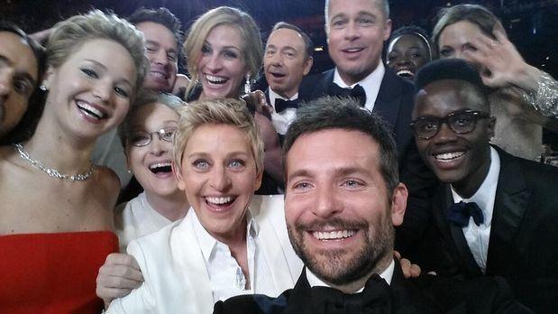 """""""Oscars 2014""""-Moderatorin Ellen DeGeneres: Star-Selfie legt Twitter..."""