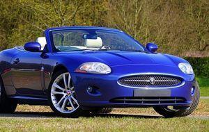 Sportwagen-Blau