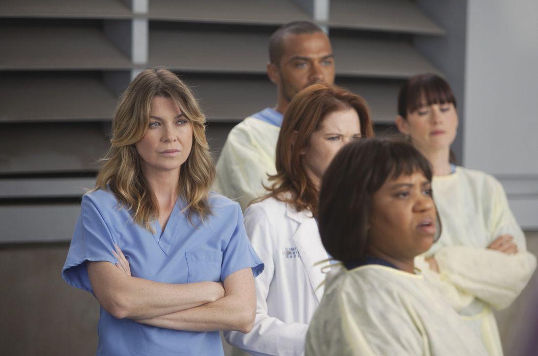 Versuchen alles, um Leben zu retten: Meredith (Ellen Pompeo, l.), Bailey (Chandra Wilson, vorne), Lexie (Chyler Leigh, r.), Jackson (Jesse Williams,... - Bildquelle: ABC Studios