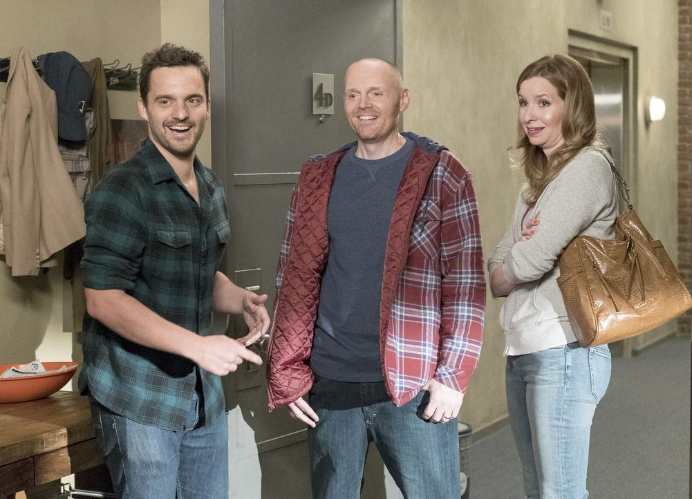 Nick (Jake Johnson, l.) bekommt unerwartet Besuch von seinem Cousin Bob (Bill Burr, M.) und dessen Frau Carol (Lennon Parham, r.) ... - Bildquelle: Jennifer Clasen 2016 Fox and its related entities.  All rights reserved.
