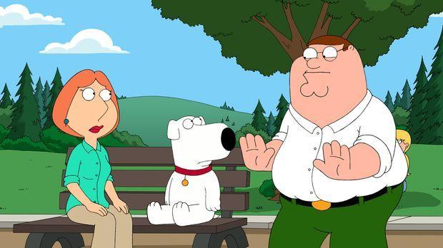 Verzweifelt auf der Suche nach Chris und Stewie, die sich im Wald verlaufen h...