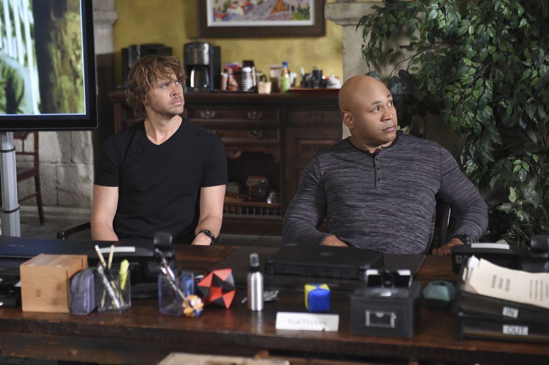 Das Team um Deeks (Eric Christian Olsen, l.) und Sam (LL Cool J, r.) muss einen neuen Mordfall lösen ... - Bildquelle: 2014 CBS Broadcasting, Inc. All Rights Reserved.