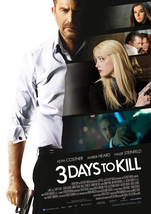 3-Days-To-Kill-Plakat-Universum - Bildquelle: 2013 - 3DTK Inc.