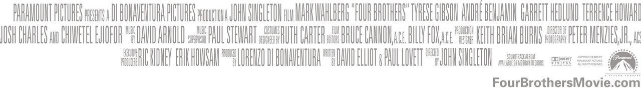 Vier Brüder - Credit block - Bildquelle: TM &   2006 Paramount Pictures. All Rights Reserved.