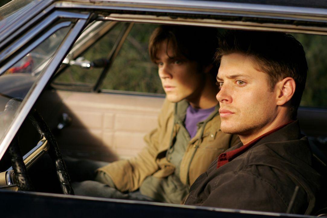 Mit gefälschten Ausweisen machen sich Dean (Jensen Ackles, r.) und Sam (Jared Padalecki, l.) auf die Suche nach einer Erklärung über das mysteri - Bildquelle: Warner Bros. Television