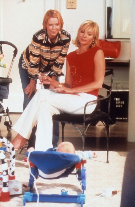 Immer wieder bewundert Miranda (Cynthia Nixon, l.) Sams (Kim Cattrall, r.) taffe Art, Probleme zu lösen ... - Bildquelle: Paramount Pictures