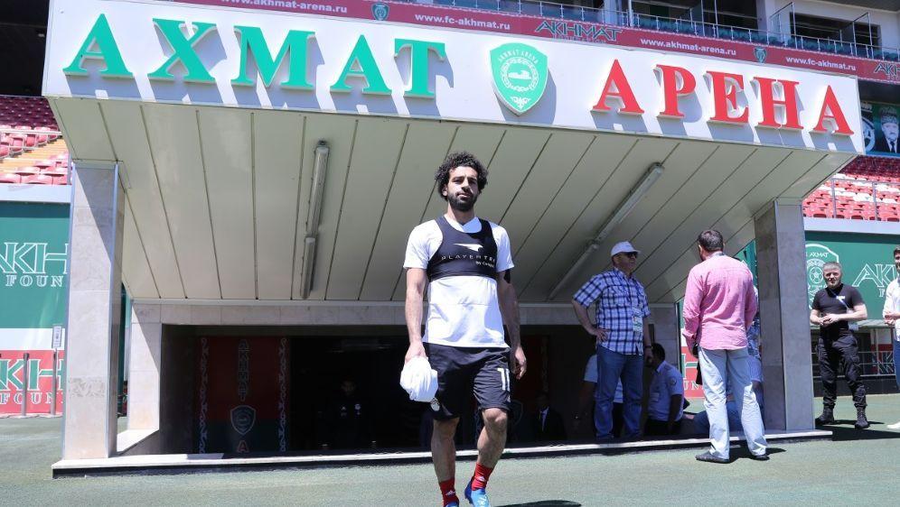 Salah erscheint zum ersten Teamtraining nach Verletzung - Bildquelle: AFPSIDKARIM JAAFAR