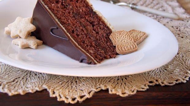Ein Traum in Braun: Spekulatius-Kuchen mit Schokolade.