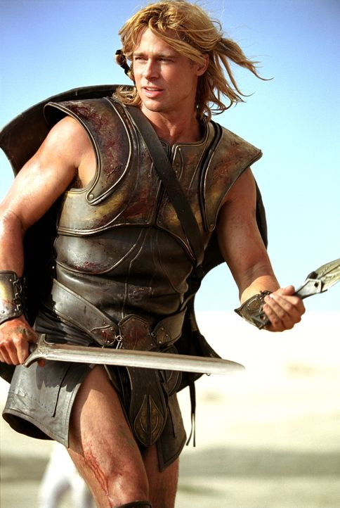 Seine Feinde fürchten ihn bereits, wenn sie seinem Namen hören: Halbgott Achilles (Brad Pitt) ... - Bildquelle: Warner Brothers International Television