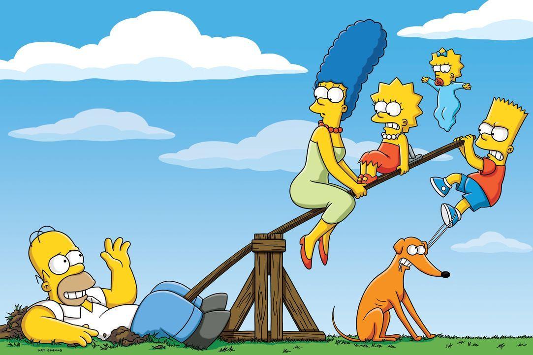 (22. Staffel) - Tag für Tag geraten die Simpsons in Situationen, die alles von ihnen oder ihrer Umgebung abfordert: Marge (2.v.l.), Lisa (M.), Homer... - Bildquelle: und TM Twentieth Century Fox Film Corporation - Alle Rechte vorbehalten