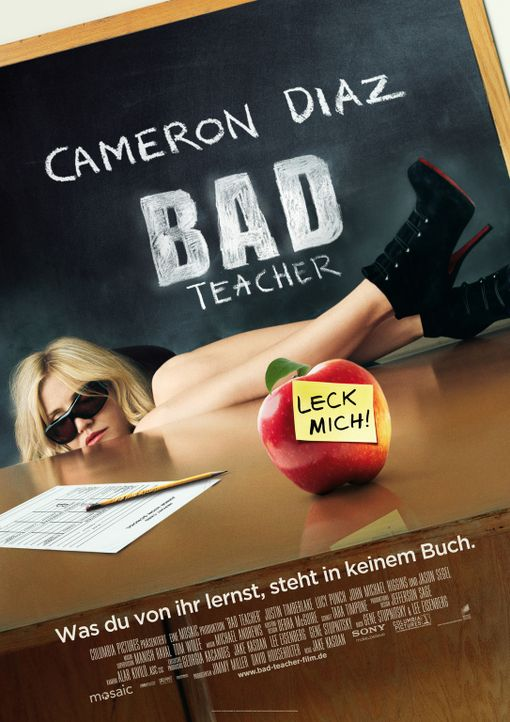 BAD TEACHER - Plakatmotiv - Bildquelle: 2011 Columbia Pictures Industries, Inc. All Rights Reserved.