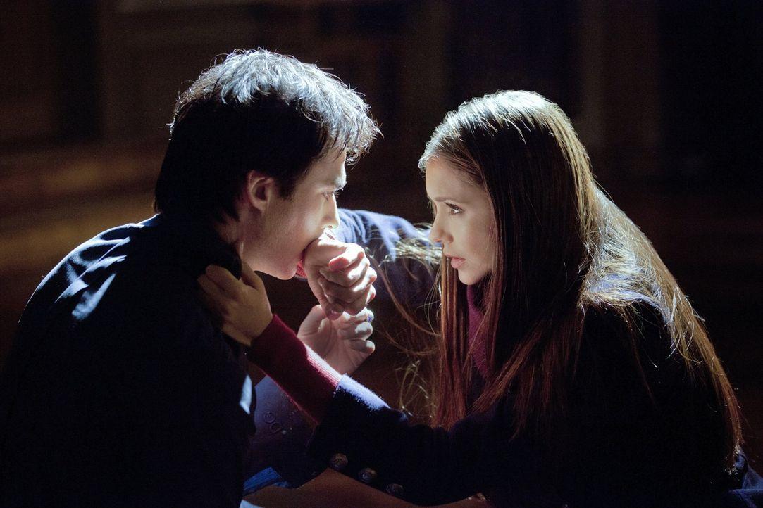 Was ist mit Elena (Nina Dobrev, r.) und Damon (Ian Somerhalder, l.) los? - Bildquelle: Warner Brothers Entertainment Inc.
