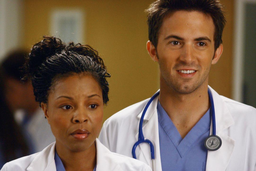 Neu im Seattle Grace Hospital: Die jungen Assistenzärzte Mitch (Richard Keith, r.) und Claire (Tymberlee Chanel, l.) ... - Bildquelle: Touchstone Television