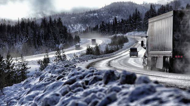 Der Coquihalla Highway in Kanada gehört zu den gefährlichsten Schnellstraßen...