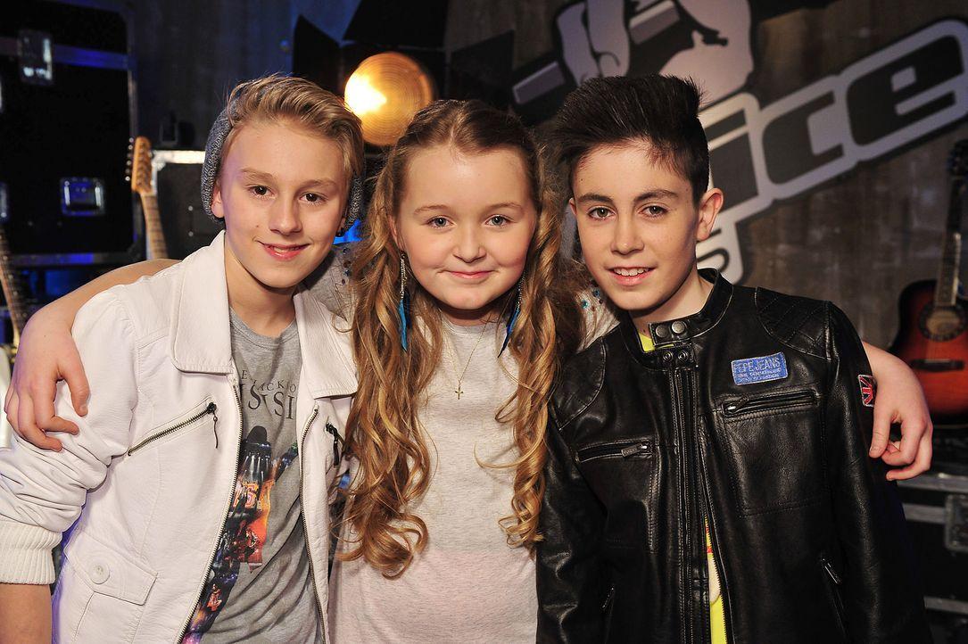 The-Voice-Kids-Stf02-Epi07-Vanessa-Joel-Leif-12-SAT1-Andre-Kowalski - Bildquelle: SAT.1/Andre Kowalski