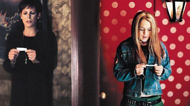 Als die beiden Streithähne (Jamie Lee Curtis, l. und Lindsay Lohan, r.) verse...