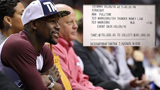 Warriors bescheren Mayweather 220.000 Dollar - Bildquelle: Getty/instagram.com/floydmayweather