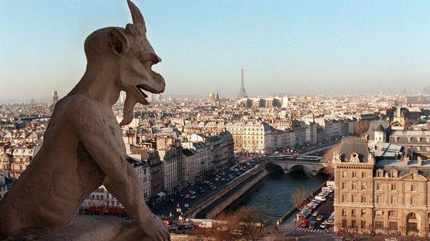 Frankreich Paris Notre Dame Panorama Gargoyle